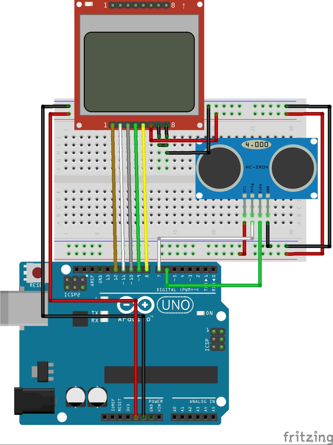 Arduino tutorial ultrasonic sensor hc sr distance meter