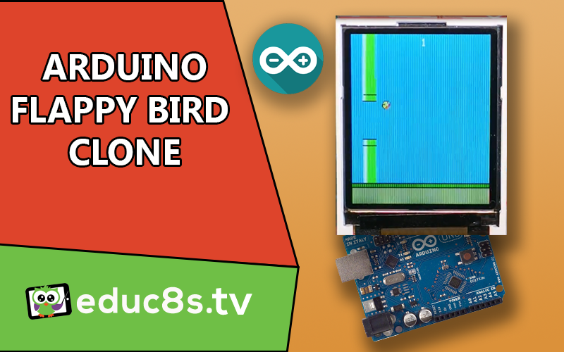 Arduino flappy bird game with a quot color tft display