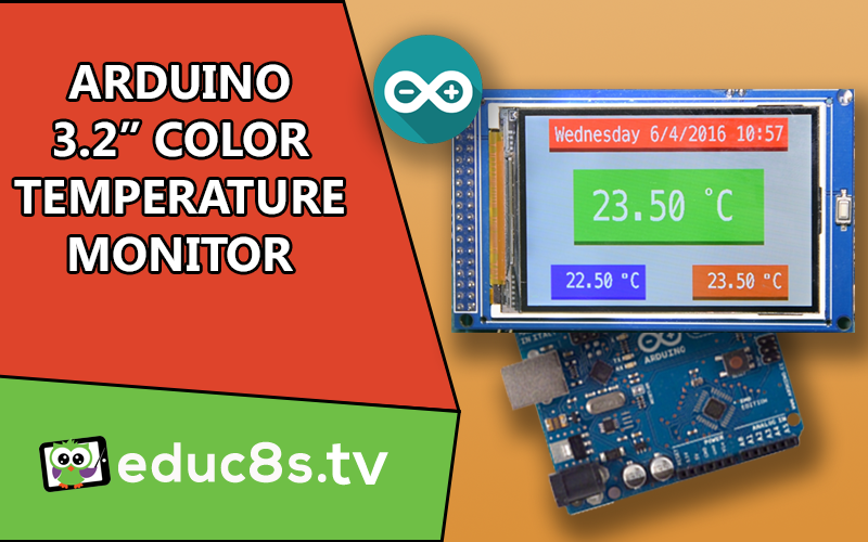 Arduino real time clock and temperature monitor with