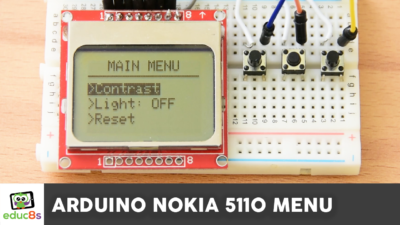 Arduino Nokia 5110 Menu