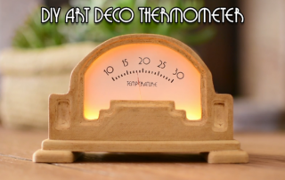 Art Deco Analog Thermometer