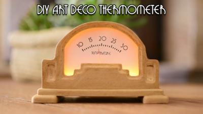 Art Deco Analog Thermometer