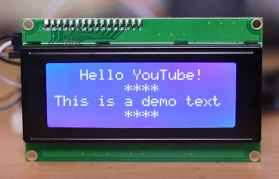 20x4 Character LCD for Arduino