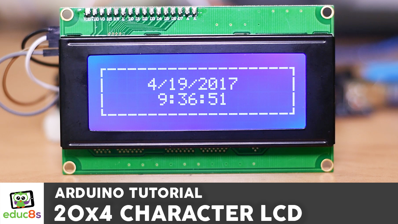 Arduino character lcd educ s tv watch learn build