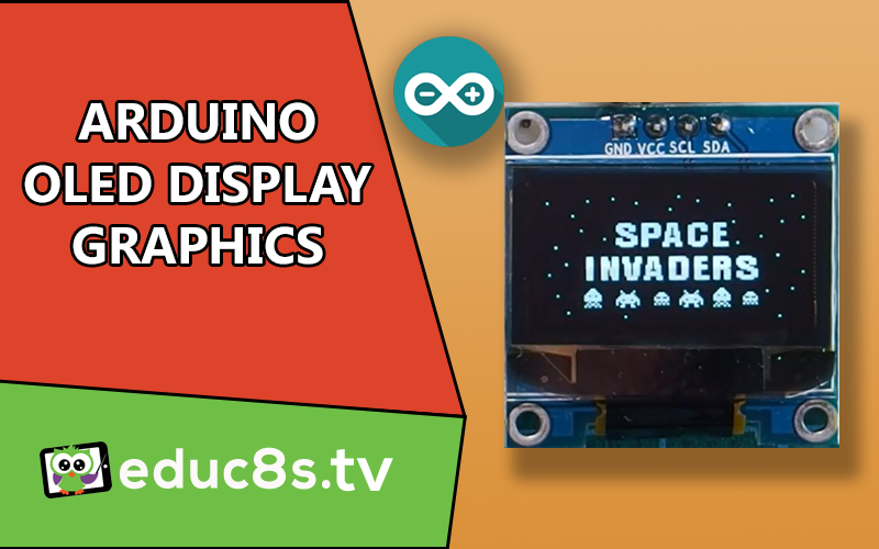 Arduino oled display graphics tutorial educ s tv watch