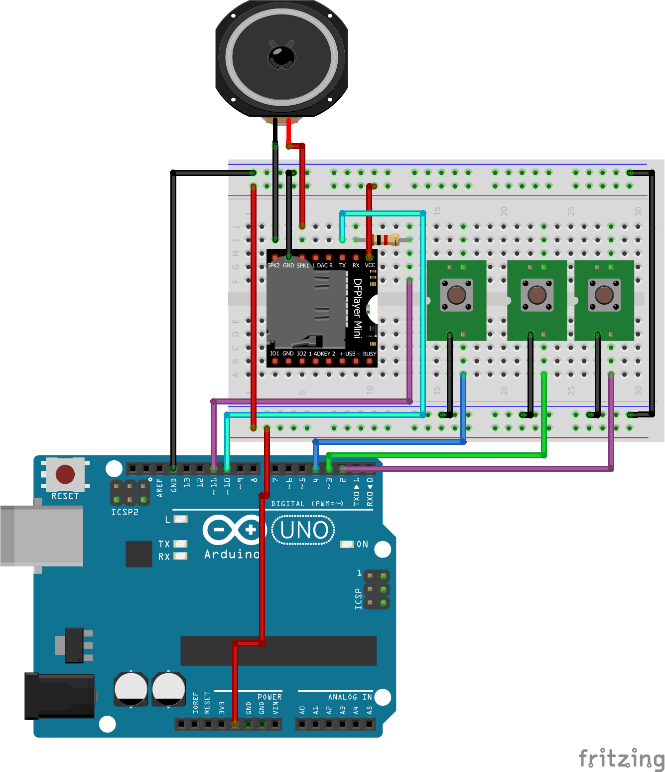 Arduino Mp3 Player Project Circuit Board Pcb With Fm Radio View Schematics