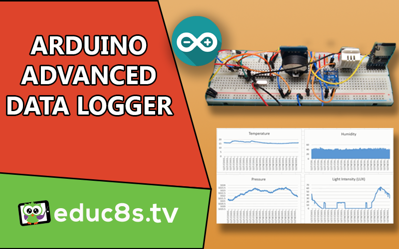 Arduino Project: Advanced Datalogger with ATMEGA328, BMP180, DHT22