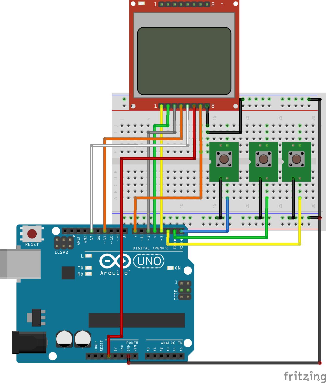 Arduino Nokia 5110 Menu - educ8s tv - Watch Learn Build