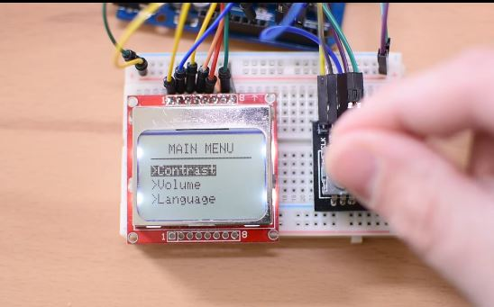 Arduino Rotary Encoder Menu - educ8s tv - Watch Learn Build
